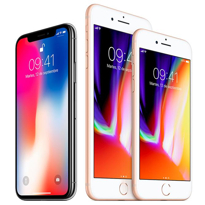 iphone8 y iphone8 plus Mac