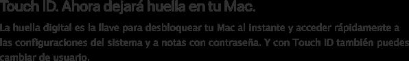 Touch Bar dejará huella MacStore