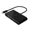Adaptador Belkin, USB-C c/USB-A/Ethernet/HDMI/VGA, Negro