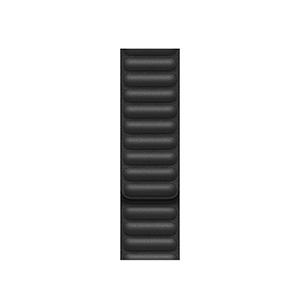 Correa Apple con eslabones de piel negra 40 mm CH/M