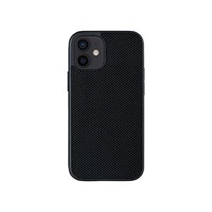 Funda y Soporte p/Auto Evutec Nylon Balistico p/iPhone 12 Mini, Negro