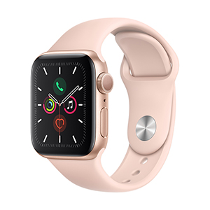 Apple Watch MWV72LZ/A S5 GPS 40mm Aluminio Oro Correa Dep Rosa Arena