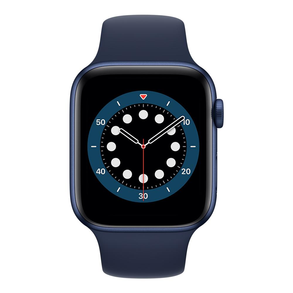 Apple Watch M00J3LZ/A S6 GPS 44mm Aluminio Azul Correa Dep Azul Marino